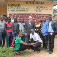 L'Ambassadeur des USA en RDC, James Swan a visité Radio Mali ce Mardi
